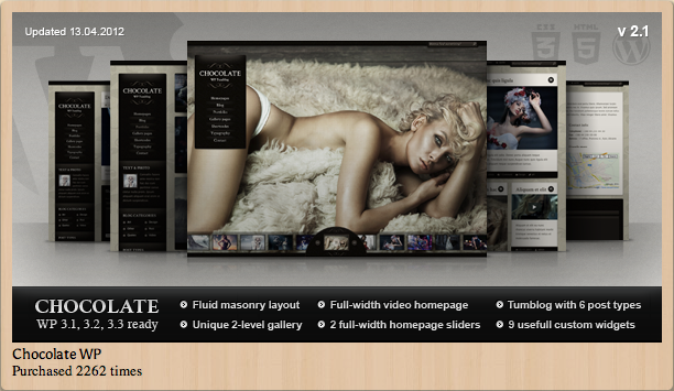 Chocolate WP Theme for Photographers