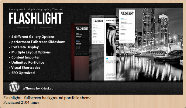 Flashlight - Fullscreen Backgroun Portfolio Theme