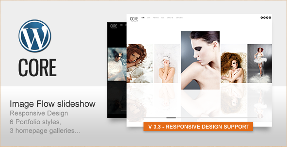 Core - Minimalist Photography Portfolio WordPress Theme