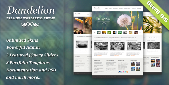 Dandelion - Powerfully Elegant WordPress Theme