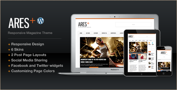 Ares - WordPress Magazine and Newspaper Template