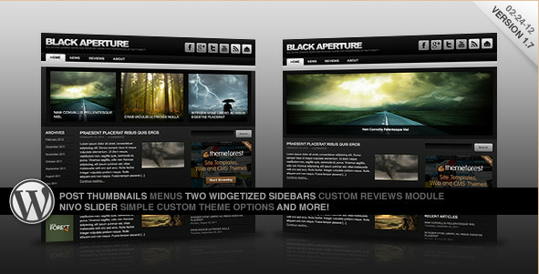 Black Aperture - WP News Theme