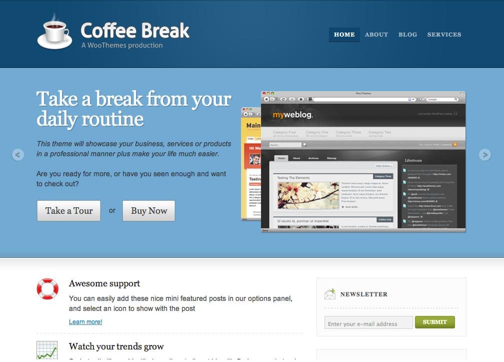 Coffee Break - ExpressionEngine business theme