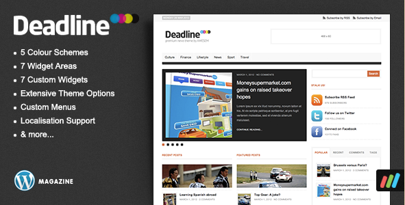 Deadline  - Premium News and Magazine Theme for WordPress