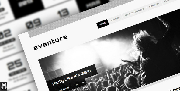 Eventure - Responsive WordPress Events Template