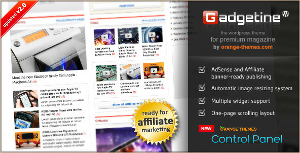 Gadgetine - Premium Magazine Theme for WordPress