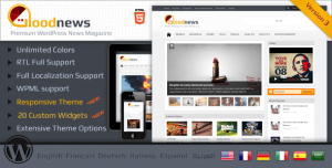 Goodnews - Internationalized/Mobile WordPress Magazine News Theme