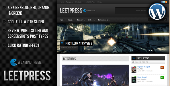 LeetPress - Gaming Theme for WordPress