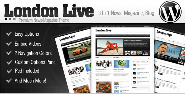 London Live - 3 in 1 News and Magazine Blog Template for WP