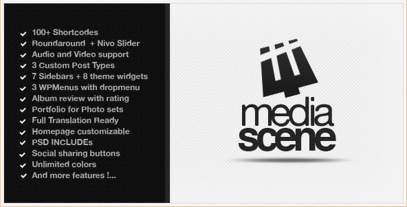 MediaScene - Premium Music WordPress Template