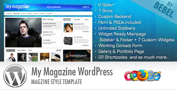 MyMagazine - Stylish News WordPress Template
