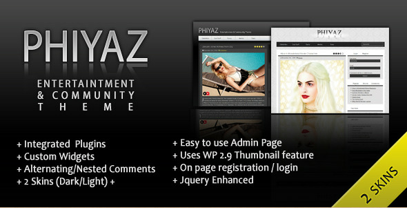 Phiyaz - Entertainment & Community WordPress Template