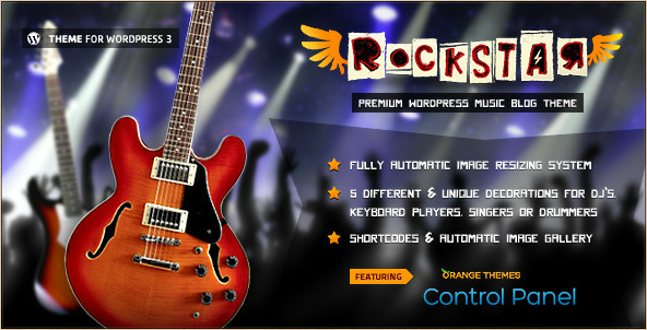 Rockstar - WordPress Template for Music Bands