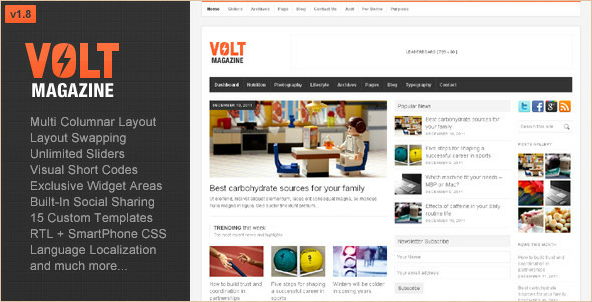 Volt - Magazine and Editorial WP Theme