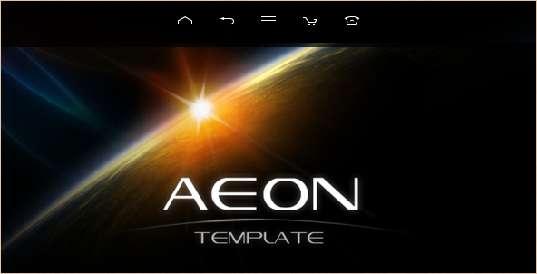 Aeon - Futuristic Template for Joomla!