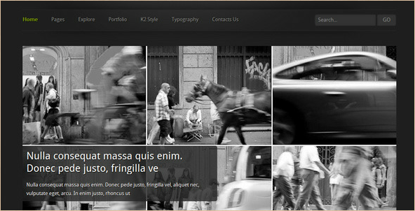 Asareng - Dark Themed Joomla Template for Artists