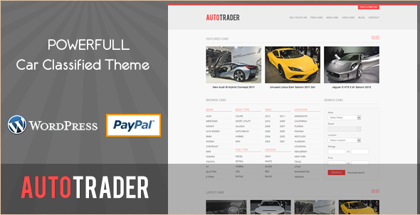 AutoTrader - Car Classified WordPress Theme