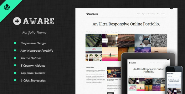 Aware - Mobile Responsive WordPress Portfolio Theme