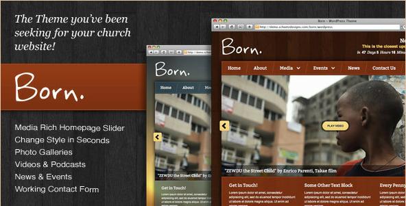 Born - The WordPress Theme for Churches