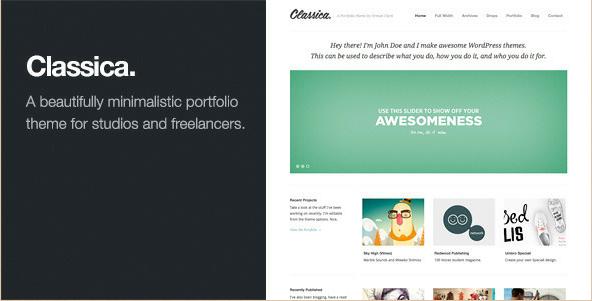 Classica - Minimalistic WordPress Portfolio Theme