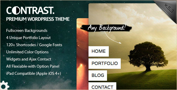 Contrast - Fullscreen Background WordPress Theme