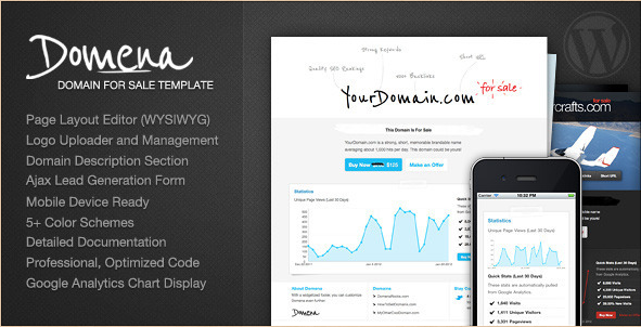 Domena - Domain for Sale WordPress Template