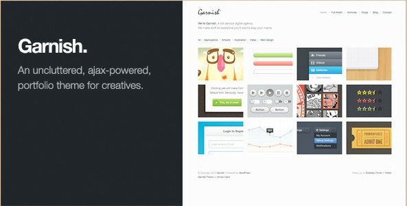 Garnish - Clean-Cut WordPress Portfolio Theme