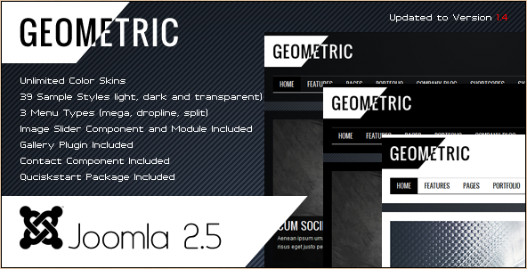 Geometric - Joomla 1.6 to 2.5 Creative Theme