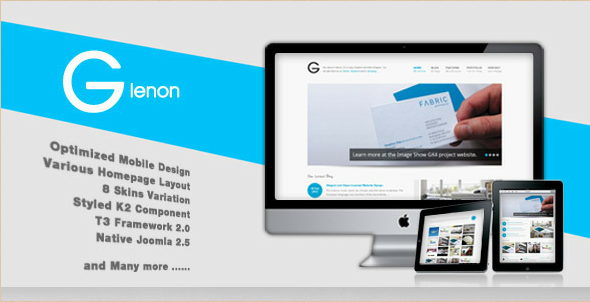 Glenon - Responsive Joomla Template for Artists