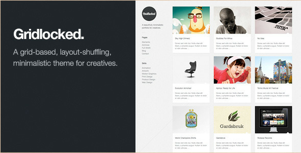 Gridlocked - Pinterest WordPress Portfolio Theme