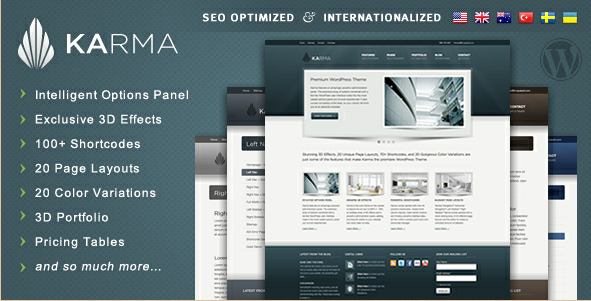 Karma - Clean and Modern WordPress Template