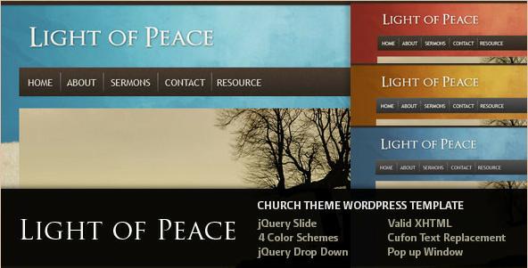 Light of Peace - WordPress Church Template