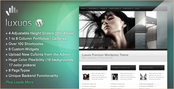 Luxuos - Premium WordPress Theme