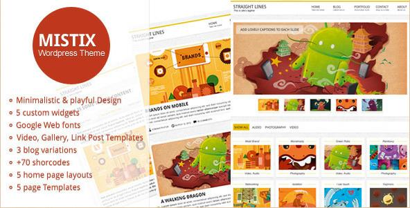Mistix - Minimalistic Portfolio WordPress Theme