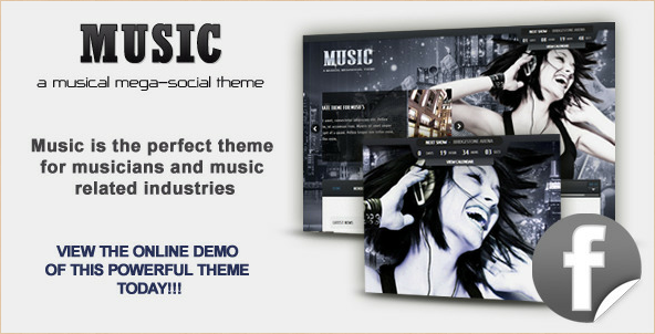 Music - Musician WordPress Theme and Facbook App
