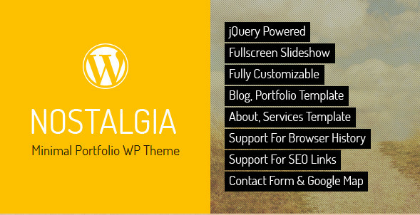 Nostalgia - WordPress Portfolio Theme