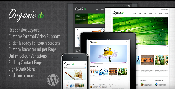Organic - Responsive Premium WordPress Theme