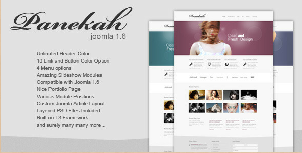 Panekah - Creative Template for Joomla 1.6