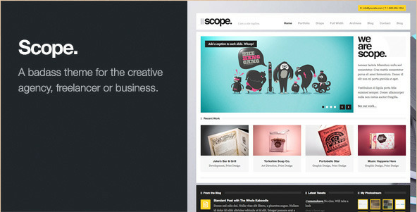 Scope - Business and Agency WordPress Theme