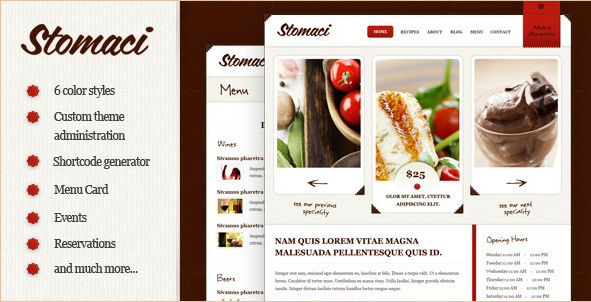 Stomaci - Restaurant - Cafe WordPress Theme