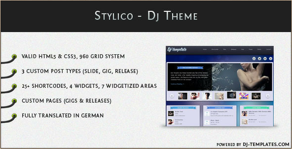 Stylico - WordPress DJ and Music Management Theme