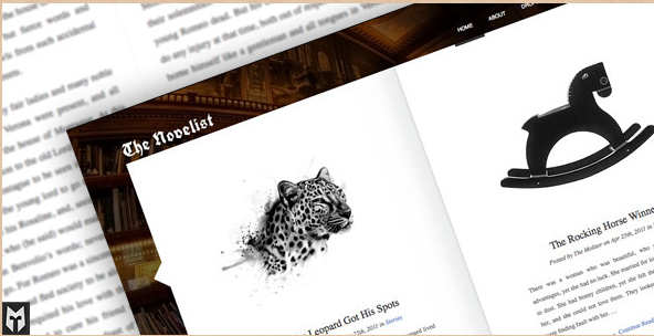 The Novelist - WordPress Writers Theme