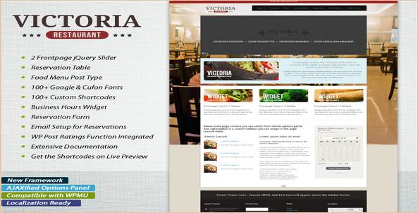 Victoria - Premium Restaurant WP Theme