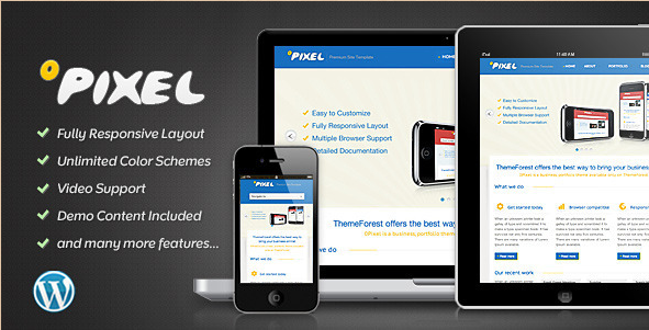 0Pixel - Responsive WordPress Theme