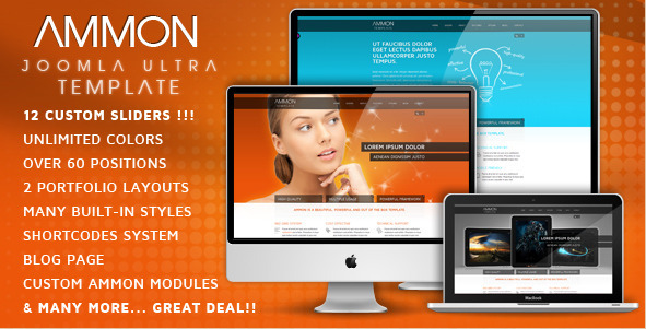 Ammon template for Joomla