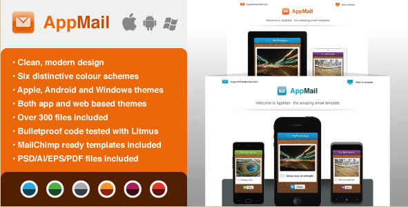 AppMail - Email Template for Apps and Mobile Websites