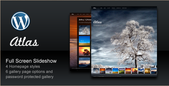 Atlas - Fullscreen WordPress Photography Portfolio Theme