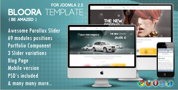 Bloora - Joomla Template