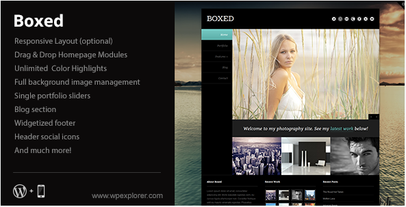 Boxed - Full background Portfolio Theme