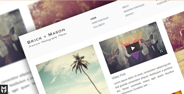 Brick+Mason - Premium WordPress Photography Blog Theme